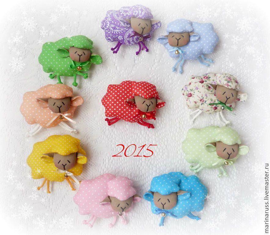 Новый год 2015 ручной работы. Ярмарка Мастеров - ручная работа Овечка. Handmade.