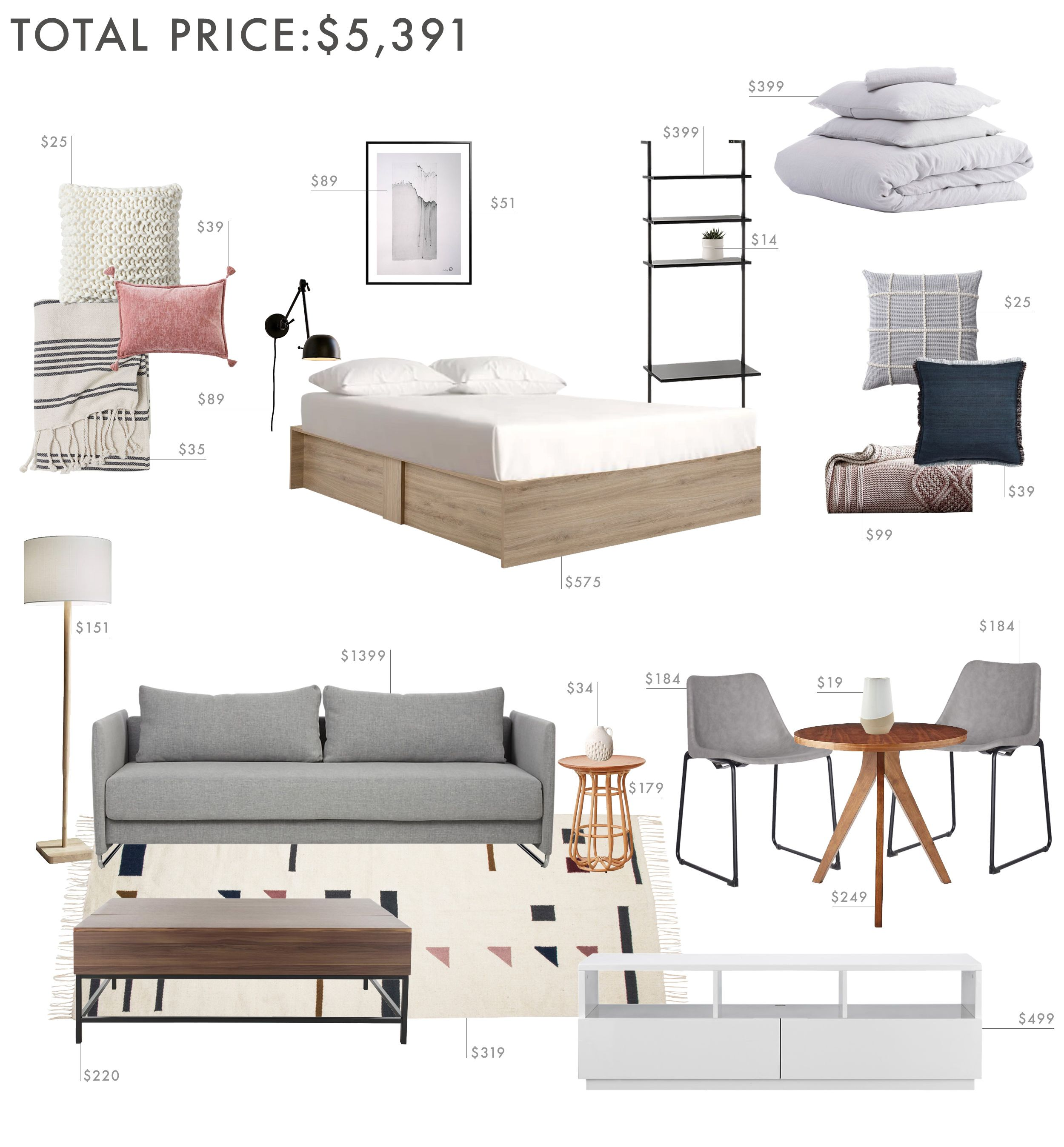 Help Getting A Apartment: 3 Budgets, 3 Designs: How To Decorate A Studio Apartment