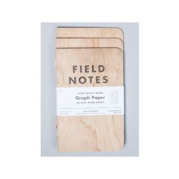 3-Pack Cherry Wood Graph Notebook (149.485 IDR) ❤ liked on Polyvore featuring home, home decor and stationery