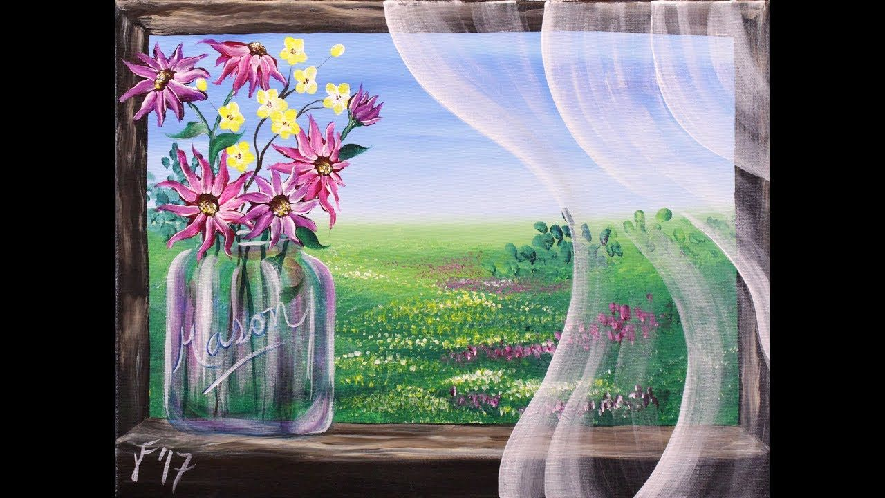 Summer Breeze Step By Step Acrylic Painting On Canvas For