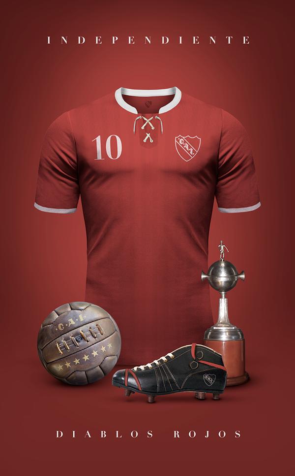 CA Independiente - Vintage clubs on  behance  276968a29b22e