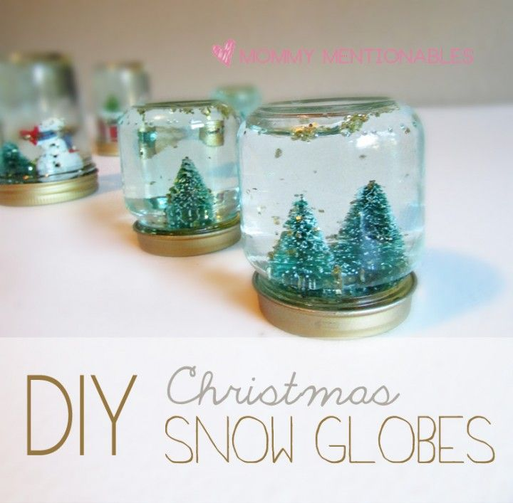 DIY Christmas Snow Globes. My son saw this on Art Attack and ...