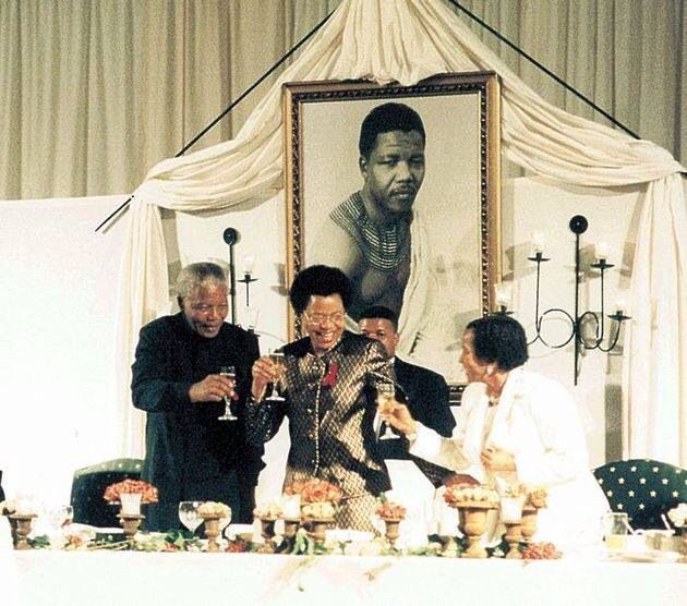 President Mandela And Graca Machel On Their Wedding Day