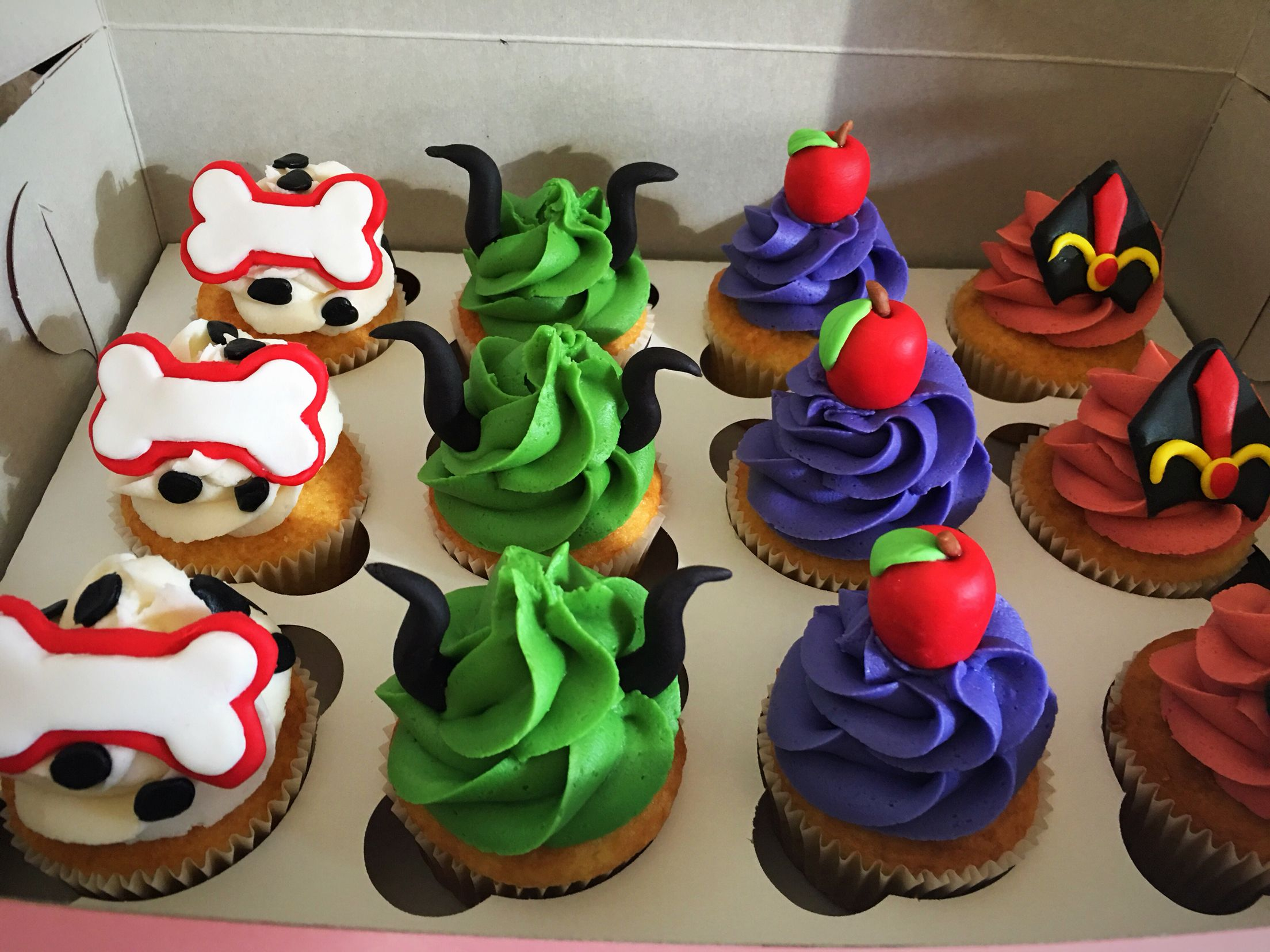Descendants cupcakes Descendants party Disney villains party