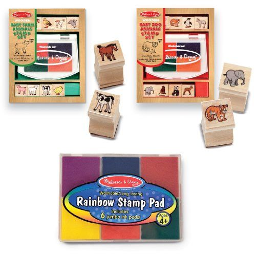 Melissa /& Doug Rainbow Stamp Pad|6 Vibrant Ink colours|Washable|4+yrs