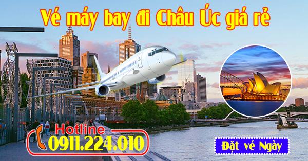 Tổng đài đặt vé máy bay đi Châu Úc giá rẻ