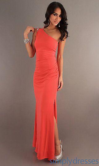 Long One Shoulder Dress, Hailey Logan Prom Dress - Simply Dresses ...