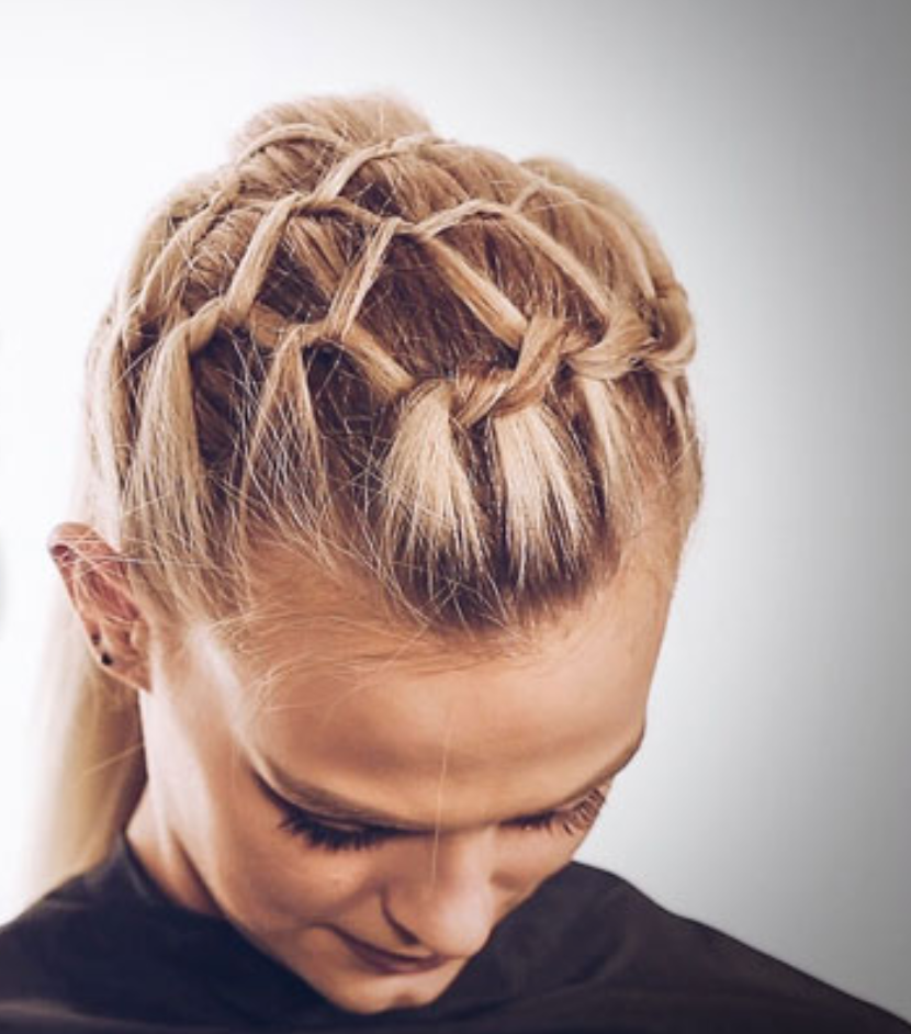 How To Create A Net Braid Fishnet Braid Video Tutorial Step By Step In 2020 Ponytail Inspiration Braided Hairstyles Updo Wedding Hairstyles