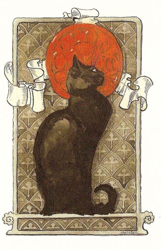 Cat Art Nouveau Theophile Steinlen Circa 1896 Fine Art
