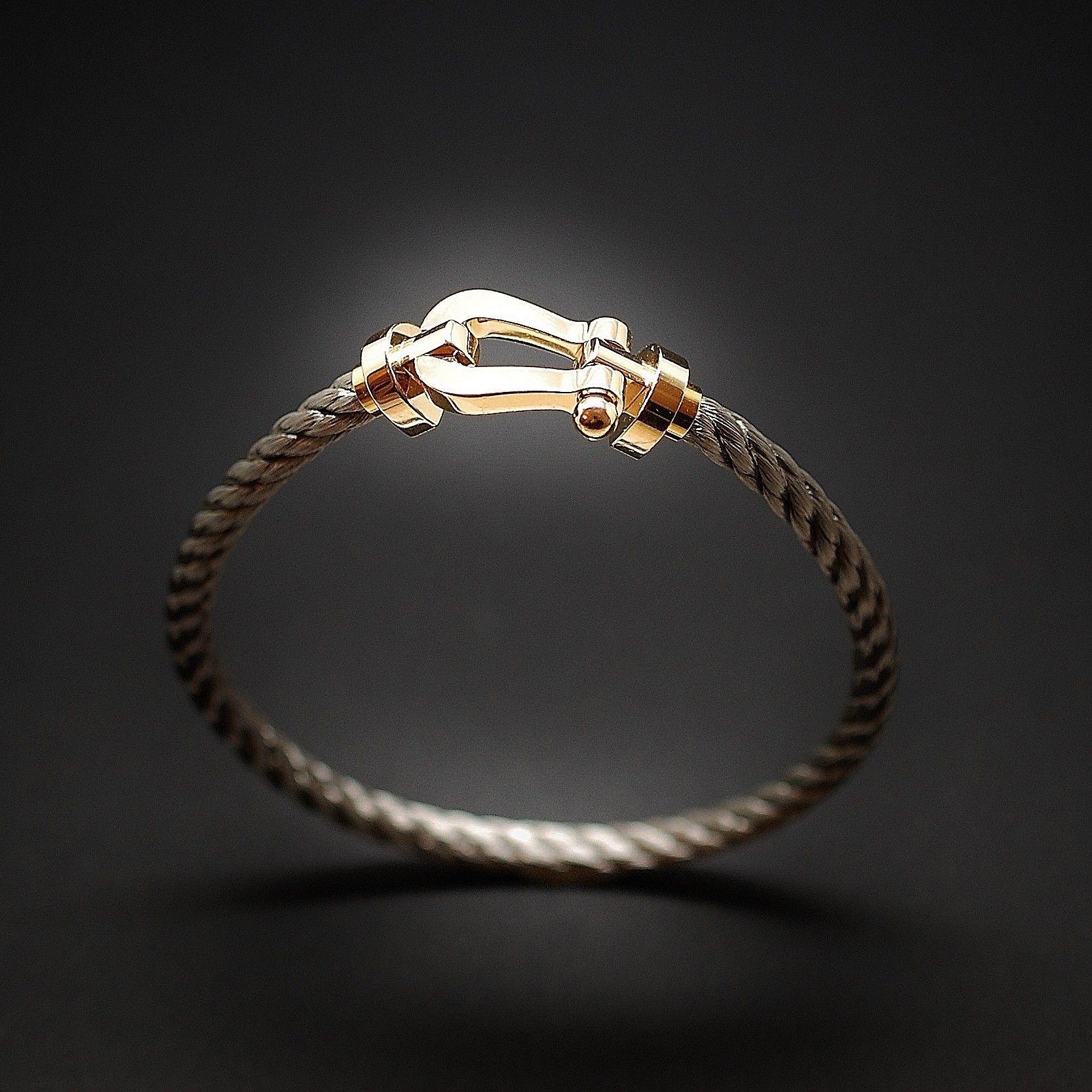 6607fac0959 à vendre   1200€ Bracelet Fred Force 10 Grand Modèle en or jaune 18 carats