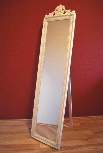 Spiegel Standspiegel standspiegel spiegel antik weiß 180 cm barock ankleidespiegel http