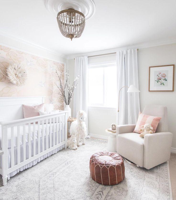 Blush Nursery With Neutral Textures: Girl Nursery, Baby Room Decor, Baby Room