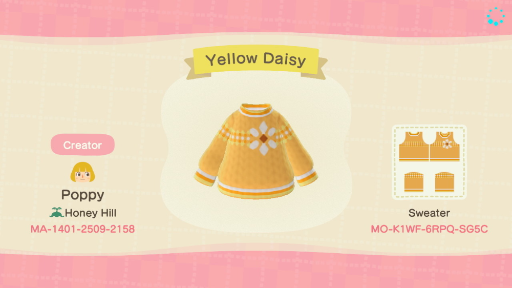 Acnh Designs Yellow Daisy By Poppy Animal Crossing Funny Animal Crossing Amiibo Cards Animal Crossing Game