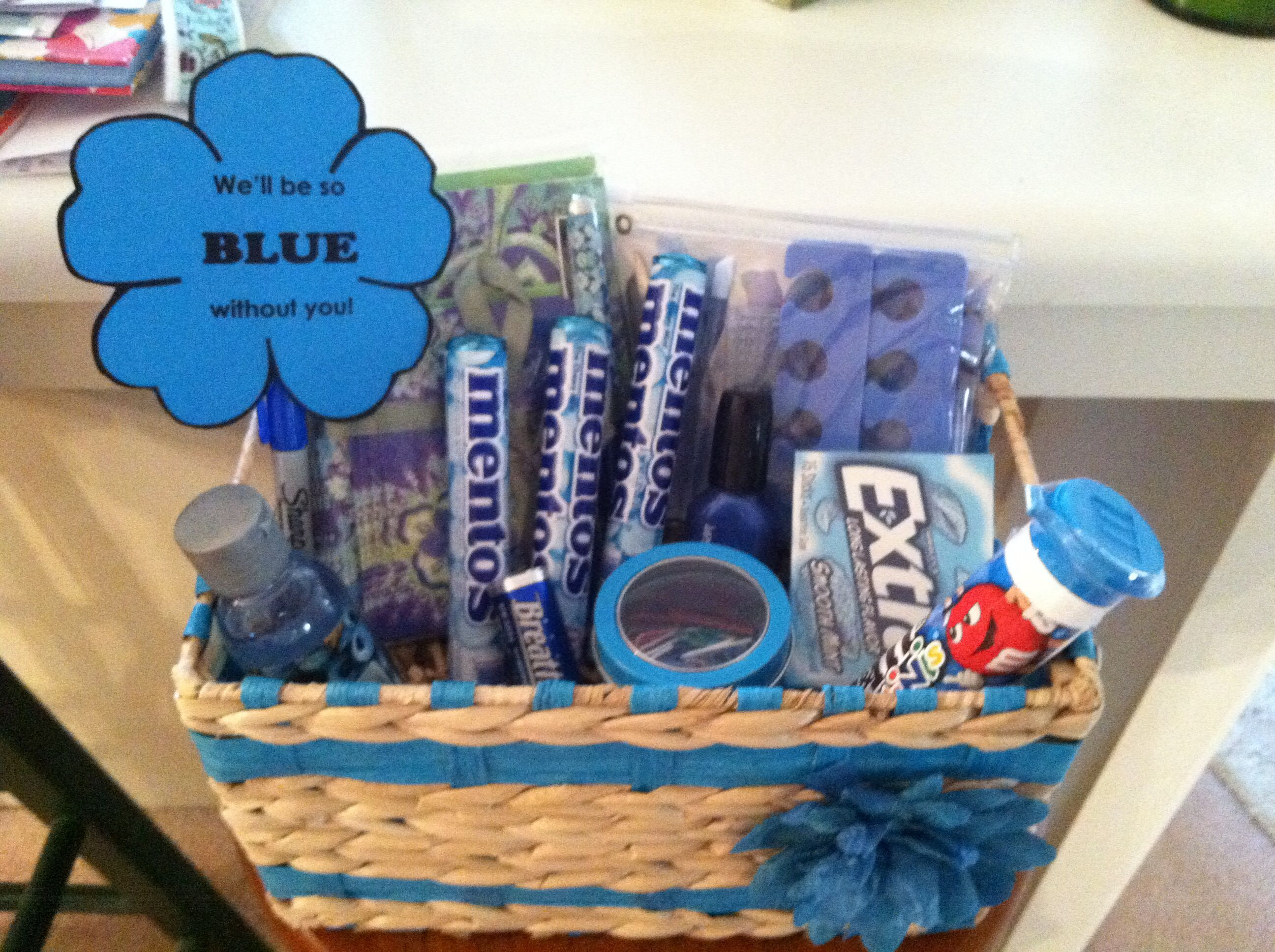 Farewell Gift For A Coworker Or Neighbor Goodbye Gifts Birthday Gift Baskets Goodbye Gifts For Coworkers