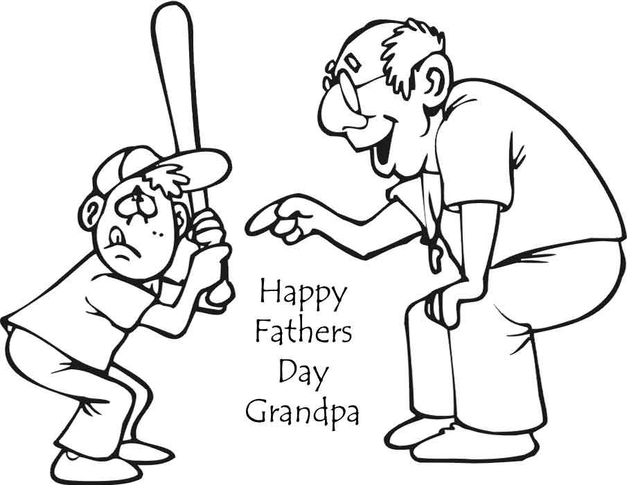 Grandpa fathers day coloring pages coloring pages for Happy fathers day grandpa coloring pages