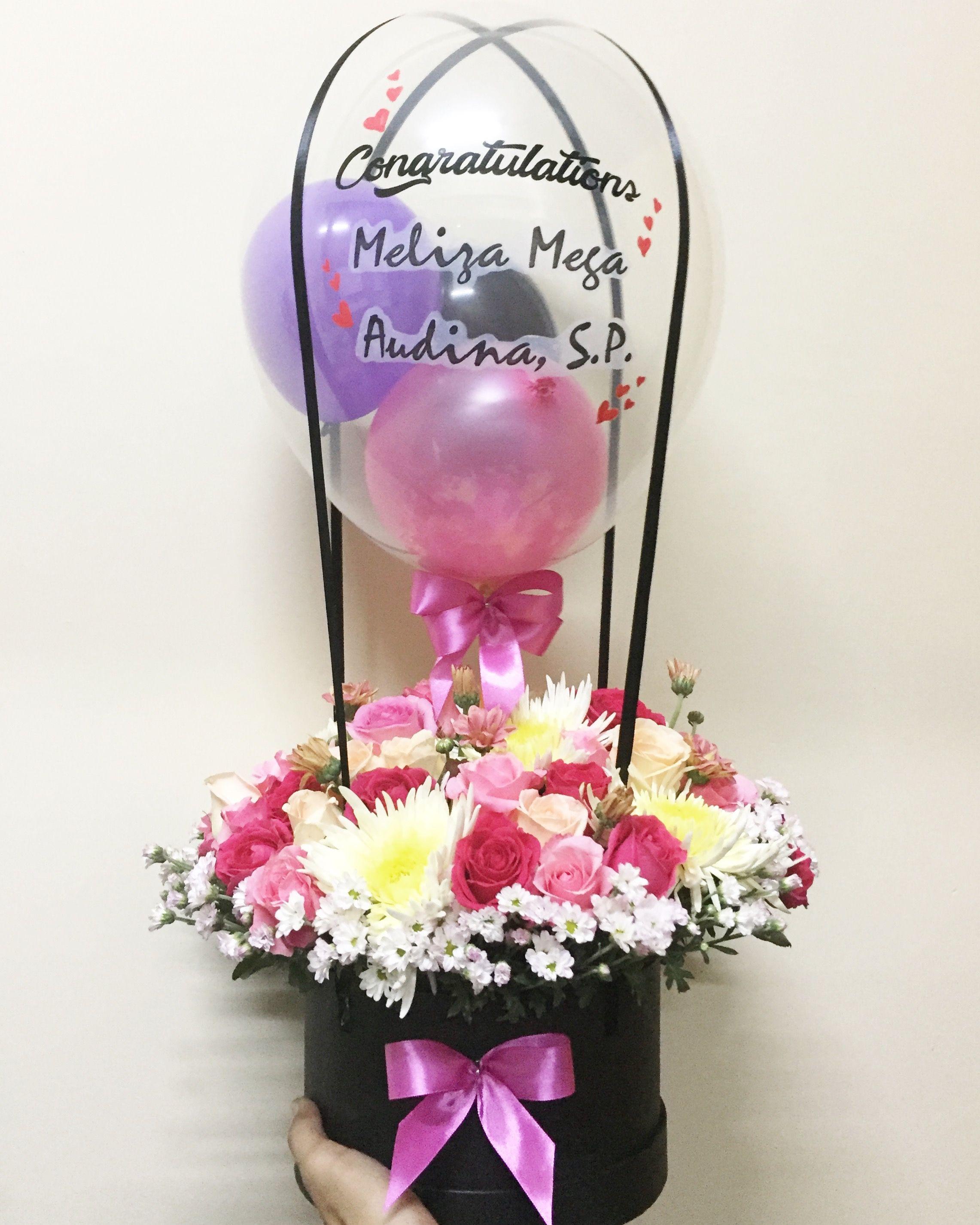 Hot air balloon bloom flower box