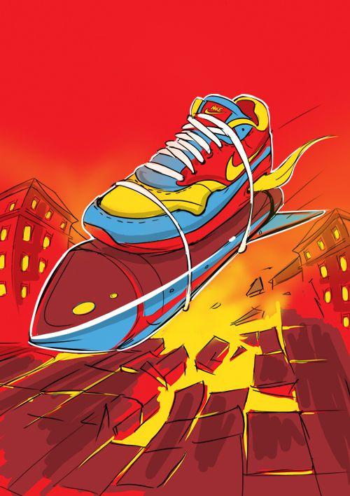 c740b8f9b7 Air Max illustration for Nike by cetin yildiz, via Behance | Shoe ...