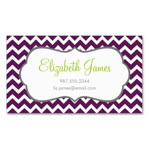 Purple chevron business cards this great business card design is purple chevron business cards this great business card design is available for customization all colourmoves Gallery