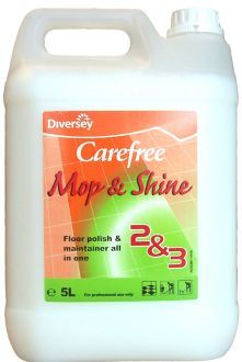 Carefree Mop And Shine X 5 Ltr Polish Floor Commercial Cleaning