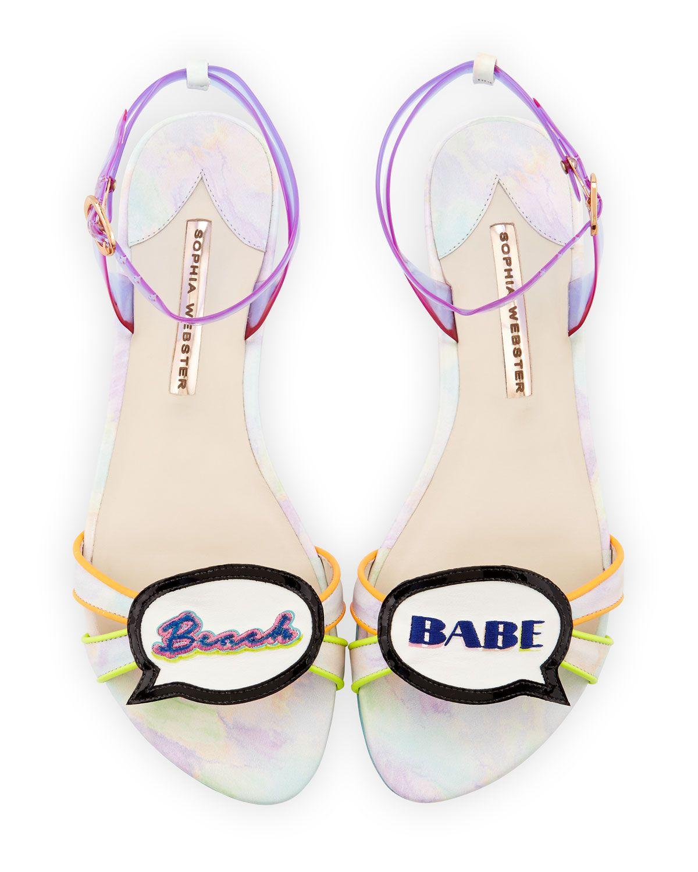 Ellen Beach Babe Speech Bubble Sandal, Multi, Women's, Size: 38.5B/8.5B - Sophia Webster