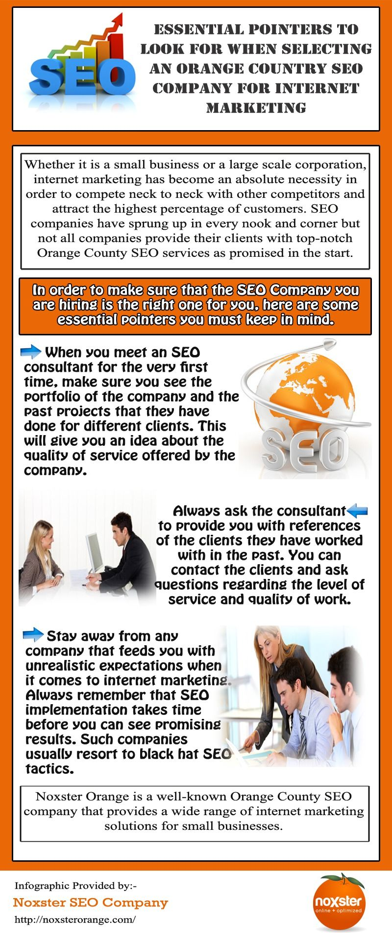 Whether it is a small business or a large scale corporation, internet marketing has become an absolute necessity in order to compete neck to neck with other competitors and attract the highest percentage of customers. Log on - http://noxsterorange.com
