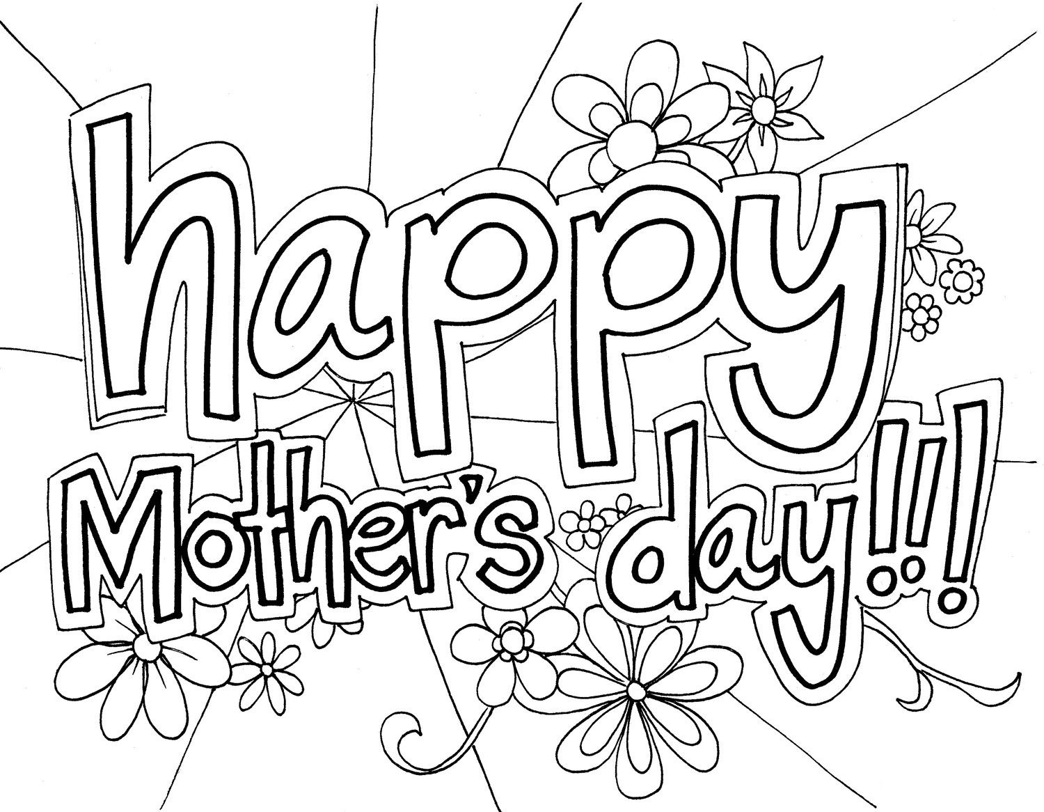 Mother S Day Coloring Pages Free
