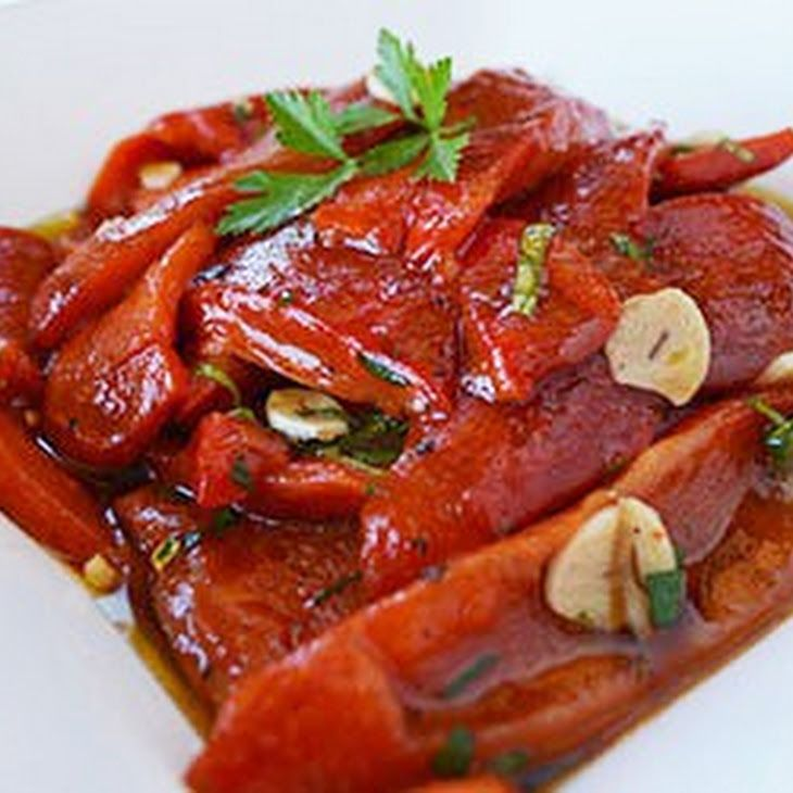 Marinated Roasted Red Bell Peppers Recipe | Yummly