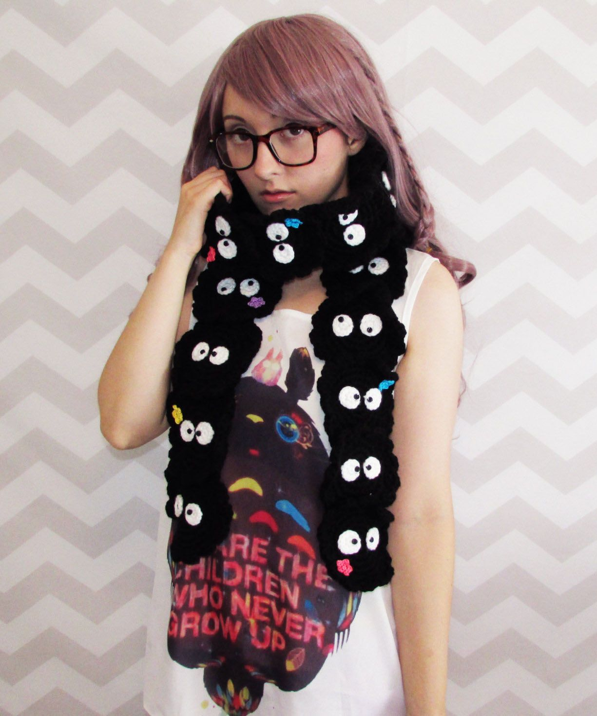 Soot sprite scarf totoro myneighbortotoro spritedaway kawaii who wouldnt want a bunch of soot sprites hanging out with them all day studio ghibli fans can now keep their necks warm with a one of a kind scarf thats bankloansurffo Images