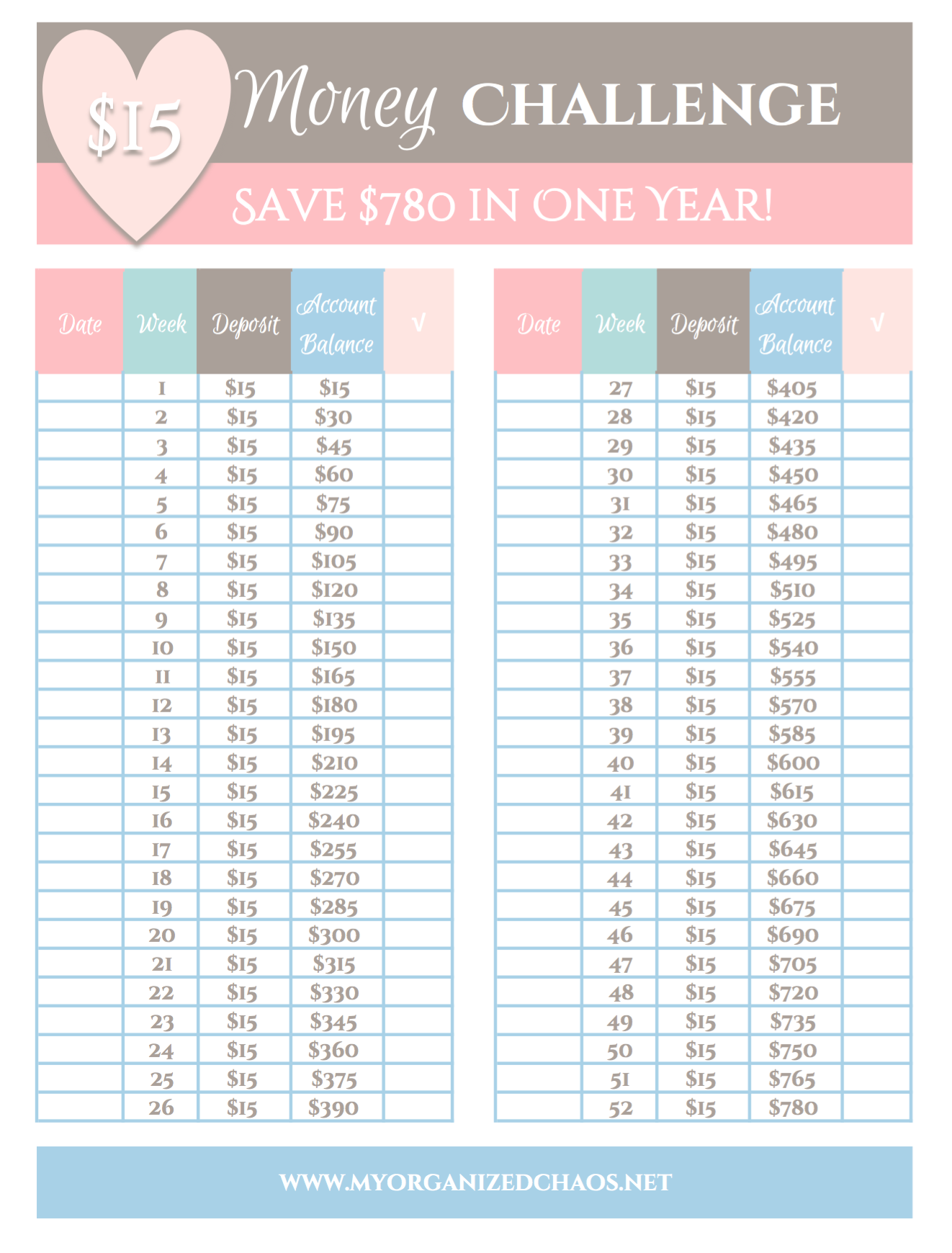 ... About Life On Pinterest 52 Week Money Challenge - 1322x1740 - png