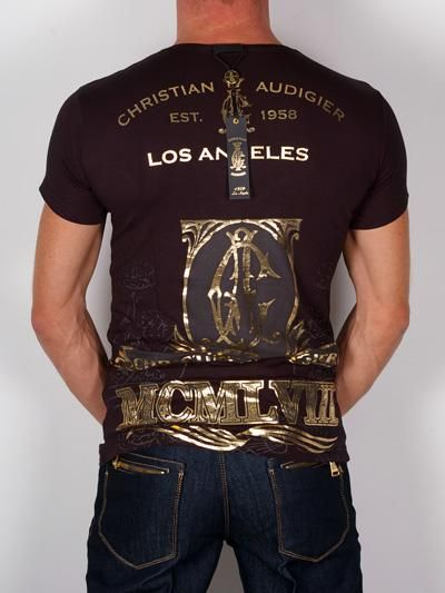 christian audigier t shirts for men | Christian Audigier T-Shirt for Men - Black