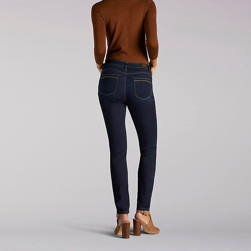 f1a59ab3 Lee Women's Modern Series Curvy Fit Sophia Skinny Jeans (Size 12 x M ...