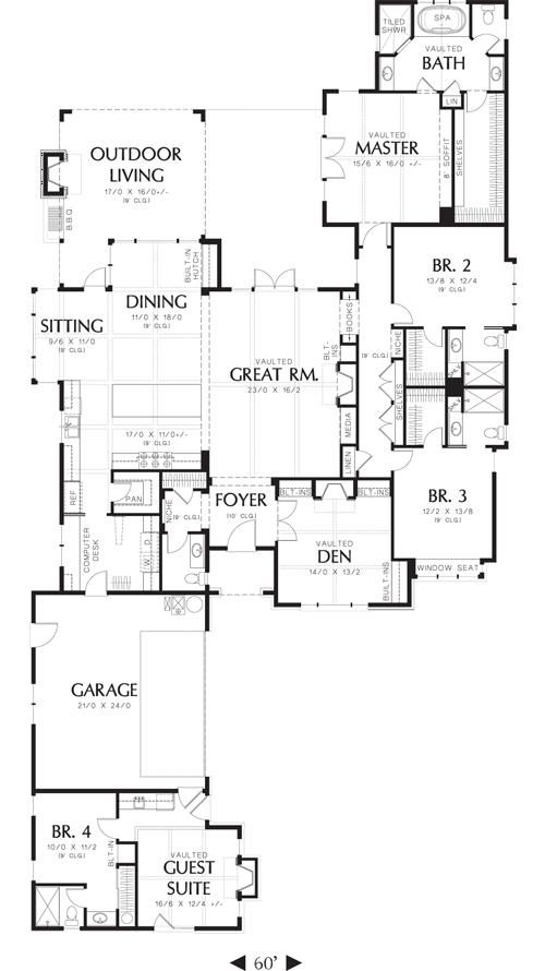 House plan 2559 00144 european plan 3 327 square feet 2800 square foot house plans