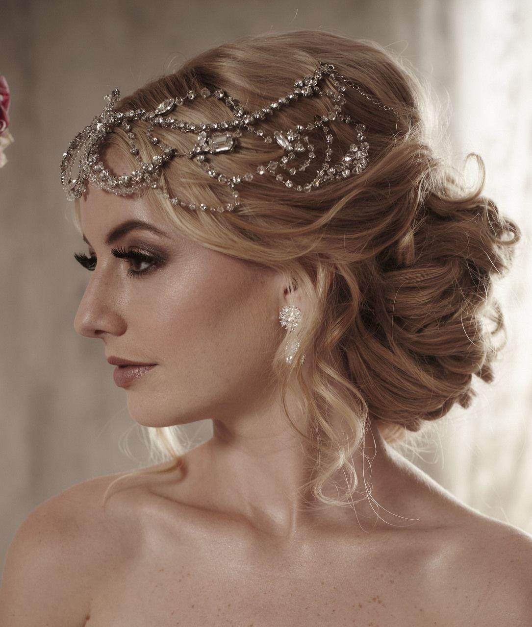 Crystal  Wedding Bridal Head Piece GATSBY