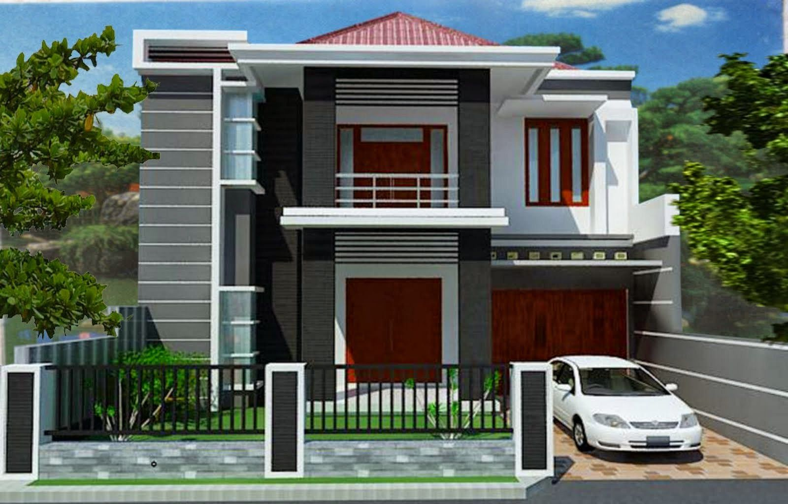 Modern 2 Storey House Designs Desain Balkon Rumah Minimalis Desain Rumah Minimalis