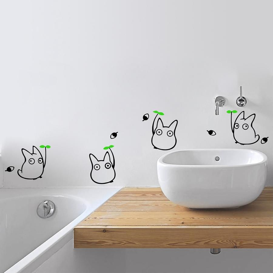 Japanese Cartoon Animation Vinyl Wall Sticker Totoro Wall Decals For  Childrenu0027s Room/Bathroom Decoration With