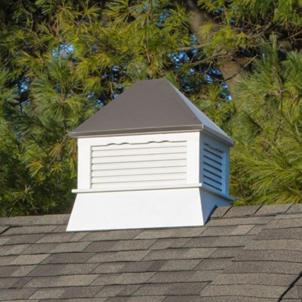 Yardcraft Products Llc Rectangle Vinyl Cupola With Bronze Metal Roof Cupolas Metal Roof Green Roof