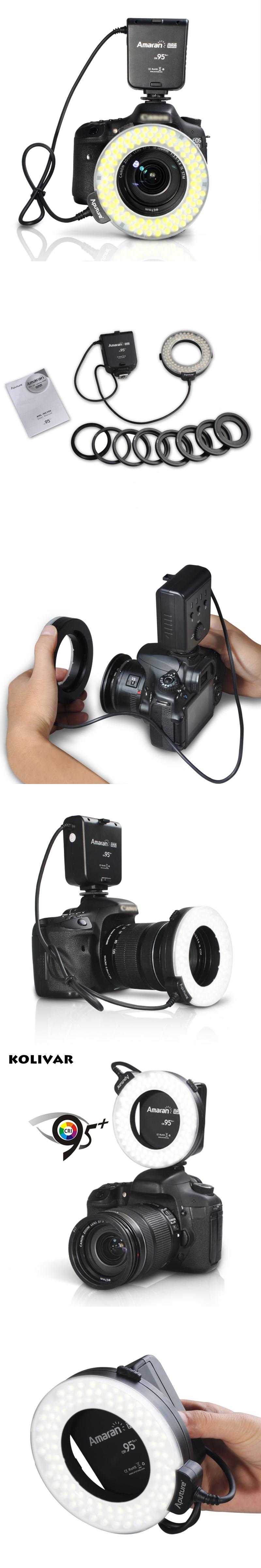 Aputure Halo HC100 LED Marco Ring Light Video Flash Light For Canon ...