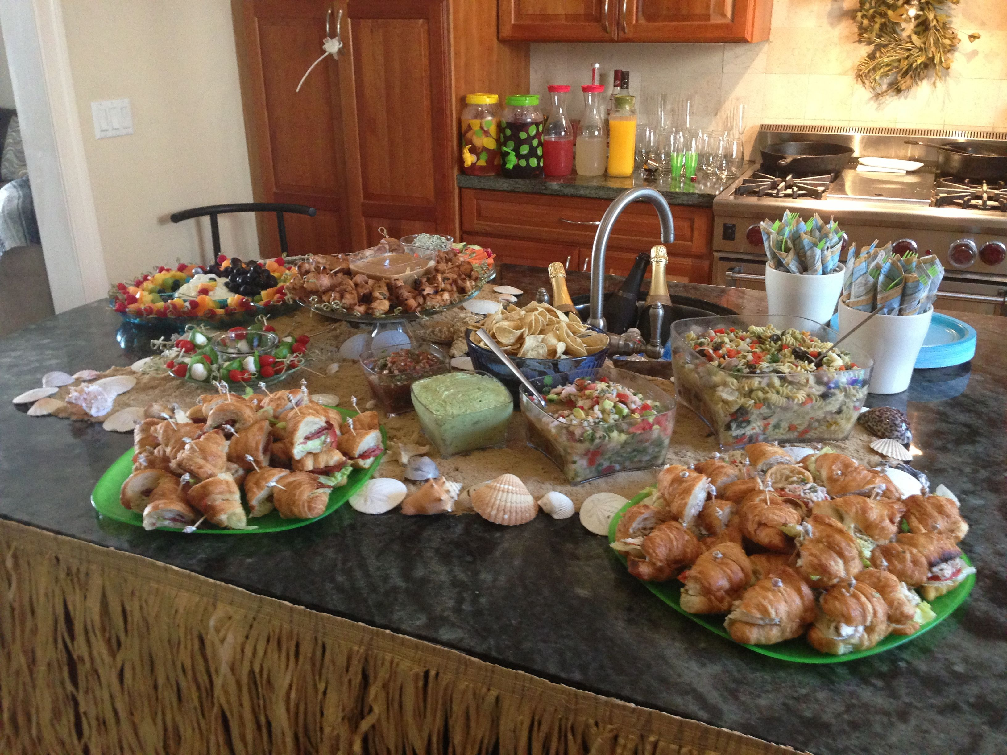 17 Best Beach Wedding Foods Images On Pinterest: Beach Bridal Shower Food Table