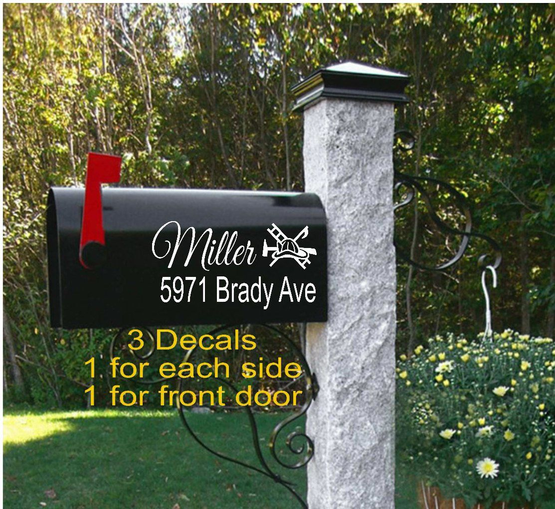 Flower Mailbox Decal  Custom Mailbox Decal  Mailbox Address Sticker Decal   Classic Mailbox Decal   Address Decals