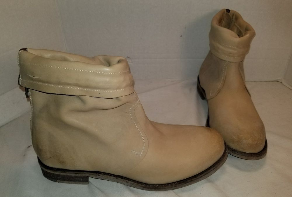70f14dd407e NEW FREE PEOPLE FARYLROBIN SPRING VALLEY NATURAL LEATHER ANKLE BOOTS US 8   FREEPEOPLE  FashionAnkle