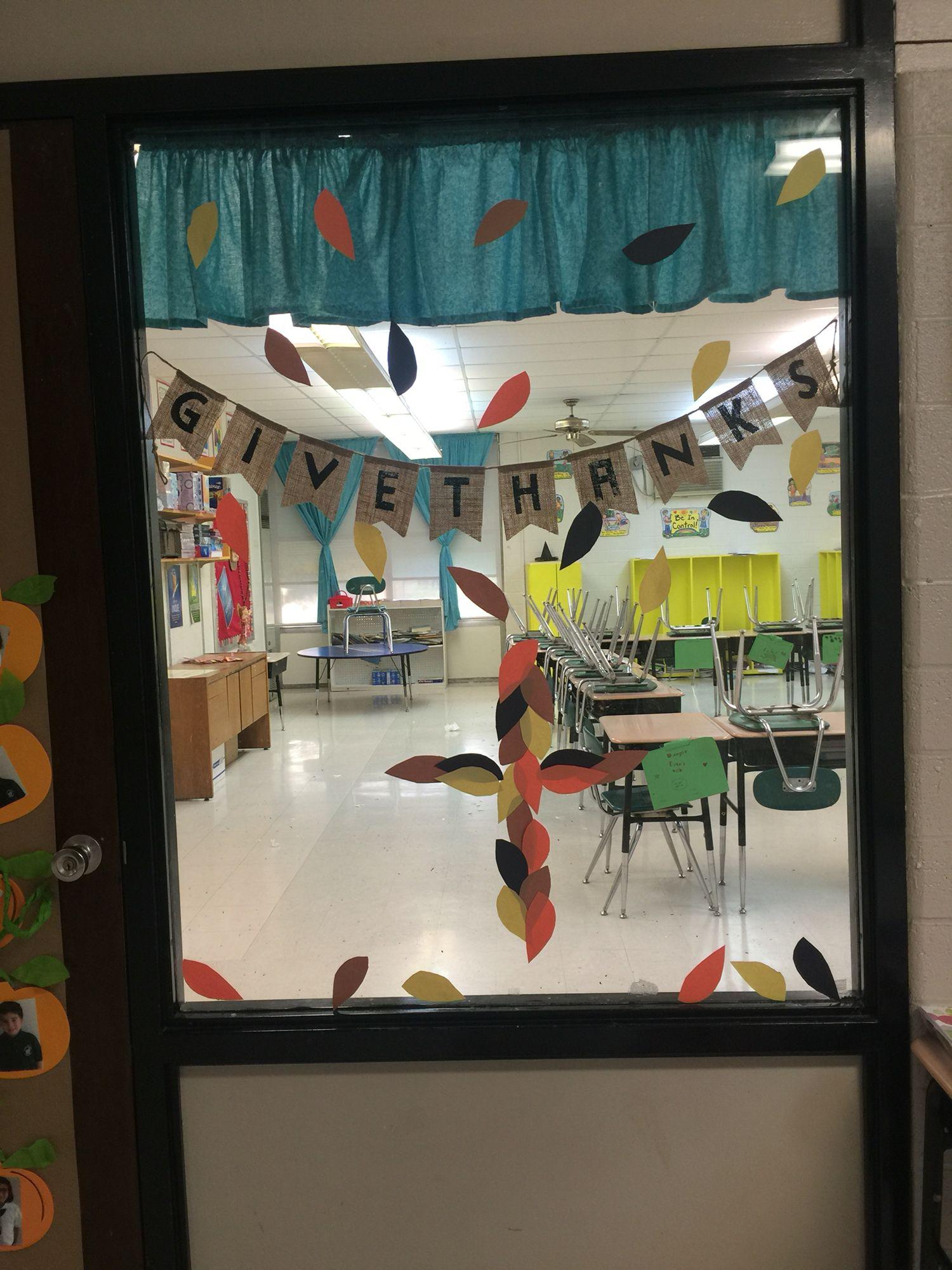 Thanksgiving Door Catholic School With Images