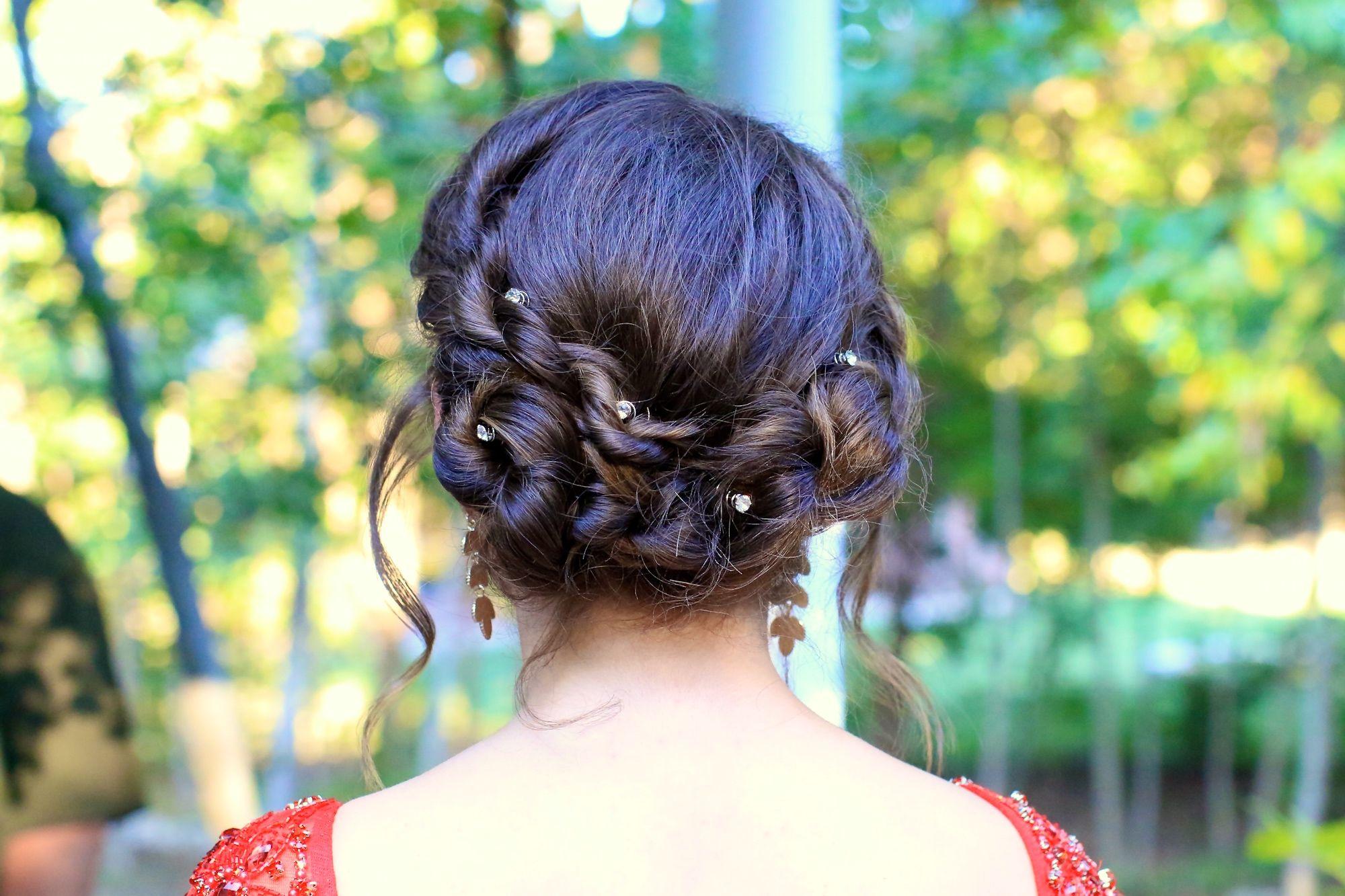 Rope twist updo homecominghigh school pinterest hair styles