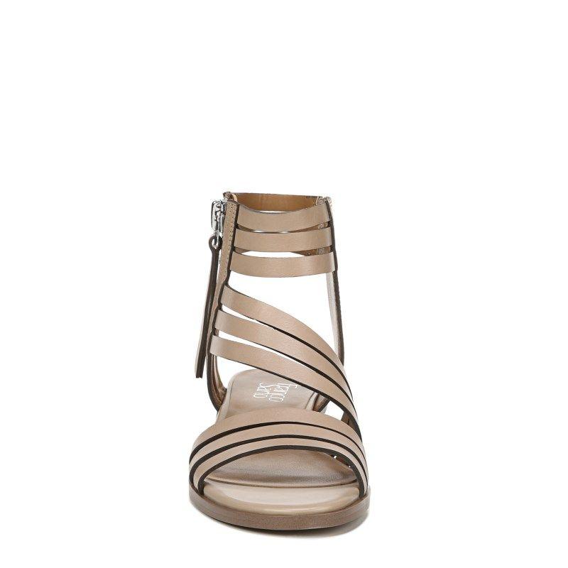 Franco Sarto Women S Elma Block Heel Sandals Mocha Leather In