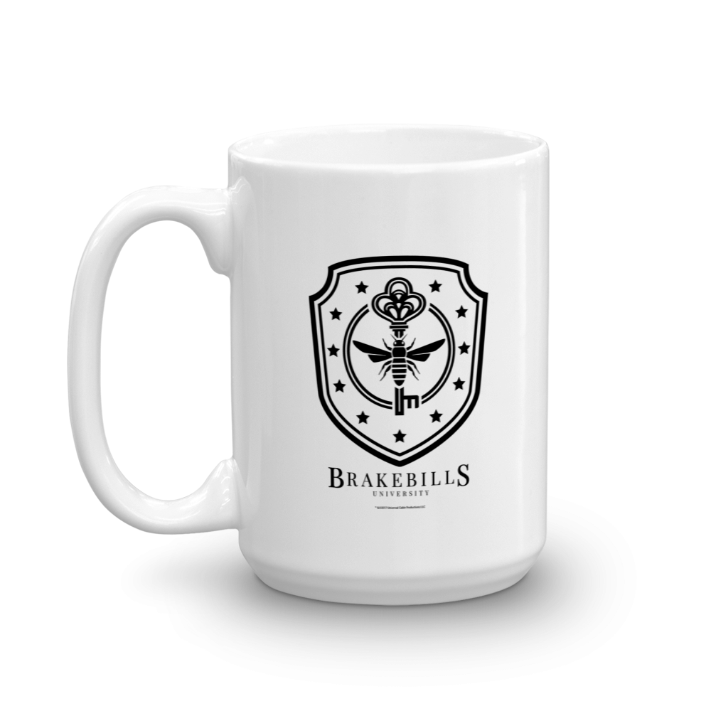 Drink your favorite hot beverage out of this 15 oz white mug featuring the Brakebill Crest to show you're a true fan of the Magicians.