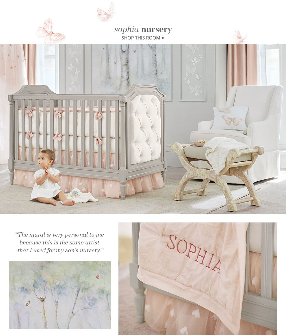 The Perfect Grey Pink Nursery That Tufted Crib Is So