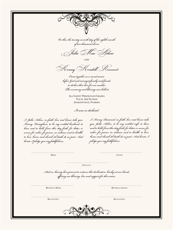 Flirty Eyes Top Bottom Wedding Certificates Wedding Certificate Traditional Wedding Vows Wedding Ceremony Traditions