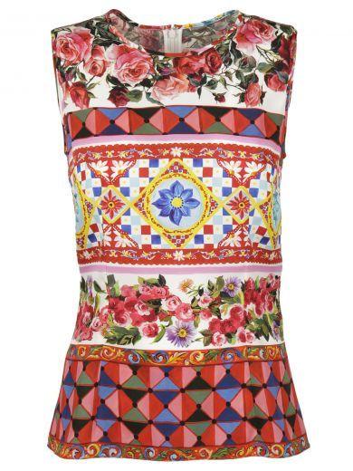 DOLCE & GABBANA Dolce & Gabbana Mambo Print Tank Top. #dolcegabbana #cloth #https: