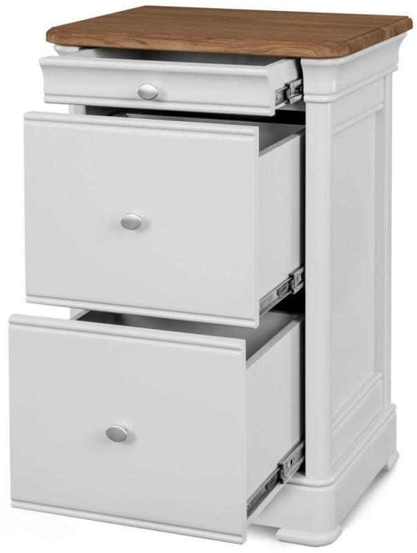 clemence richard tuscany painted oak 3 drawer filing cabinet