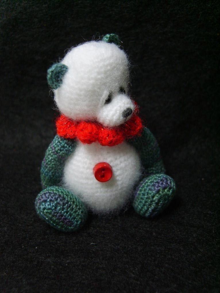 Miniature Crochet THREAD ARTist Panda Mini Teddy Bear Pattern PDF ...