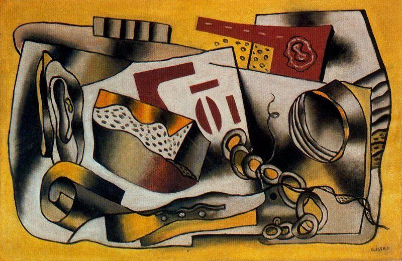 Toujours vie5, huile de Fernand Leger (1881-1955, France)